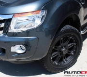 FORD RANGER WITH BLACK RHINO ROCKWELL MATTE BLACK 3