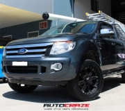 FORD RANGER WITH BLACK RHINO ROCKWELL MATTE BLACK