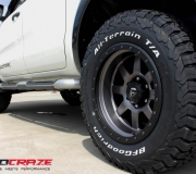 FORD RANGER WITH FUEL TROPHY MATTE ANTHRACITE WITH BLACK RING 1