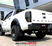 FORD RANGER WITH FUEL TROPHY MATTE ANTHRACITE WITH BLACK RING 2