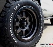 FORD RANGER WITH FUEL TROPHY MATTE ANTHRACITE WITH BLACK RING 4