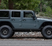 JEEP WRANGLER WITH BLACK RHINO TANAY MATTE BLACK MACHINED FACE WITH DARK MATTE TINT-1
