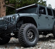JEEP WRANGLER WITH BLACK RHINO TANAY MATTE BLACK MACHINED FACE WITH DARK MATTE TINT-2