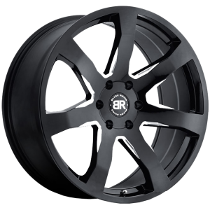 MOZAMBIQUE GLOSS BLACK MACHINED ACCENTS-1